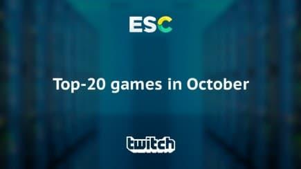 Top-20 popular games in October via Twitch
