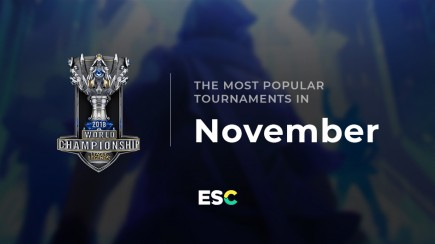 The most popular tournaments of November