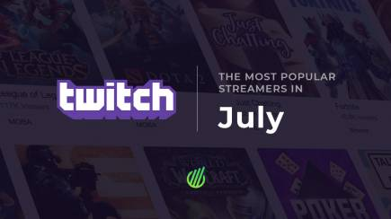 The most popular streamers in July