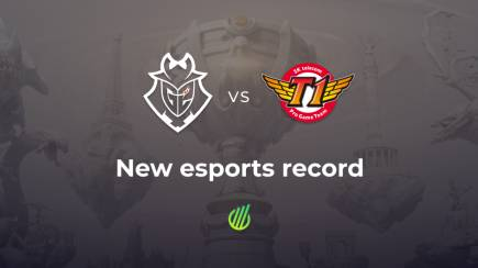 Match G2 vs. SKT has become the most popular in the esports history