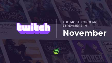The most popular streamers of November on Twitch