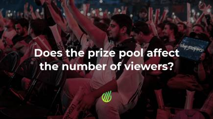 Does the prize pool affect the number of viewers?
