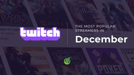 The most popular streamers of December on Twitch