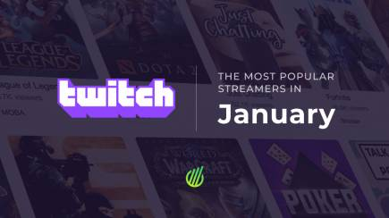 The most popular streamers of January on Twitch
