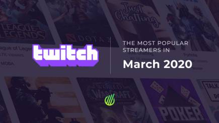 The most popular streamers of March on Twitch