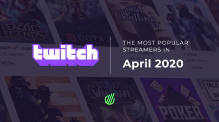 The most popular streamers of April on Twitch