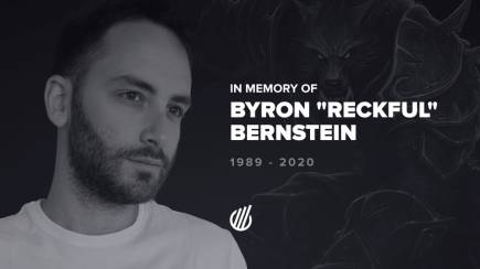 "In memory of Byron ""Reckful"" Bernstein"