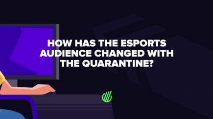How has the esports audience changed with the quarantine?