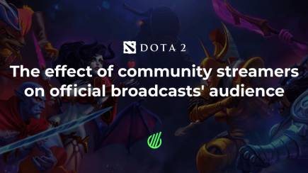 The effect of community streamers on official broadcasts' audience of Dota 2