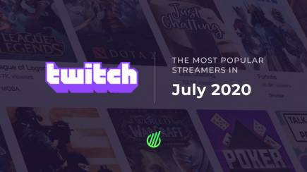 The most popular streamers of July on Twitch