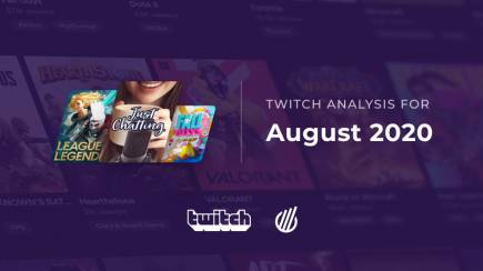 Twitch categories in August 2020
