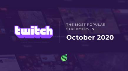 Most popular streamers of October on Twitch