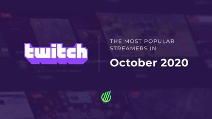 Самые популярные стримеры октября на Twitch