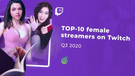 TOP-10 female streamers in Q3 of 2020 on Twitch