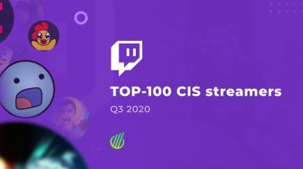 TOP-100 CIS streamers in Q3, 2020