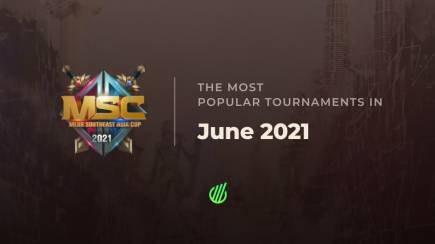 The most popular tournaments in June 2021